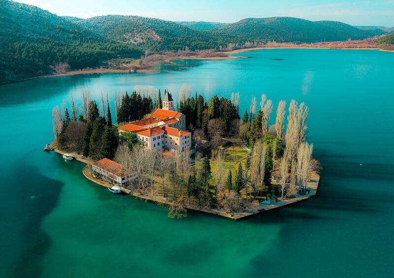 Visovac Island Krka National Park Croatia