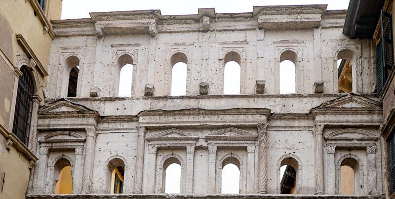 Wall on Porta Borsari Verona Italy