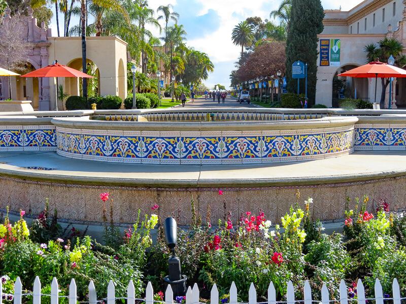 Water Feature Balboa Park San Diego California USA