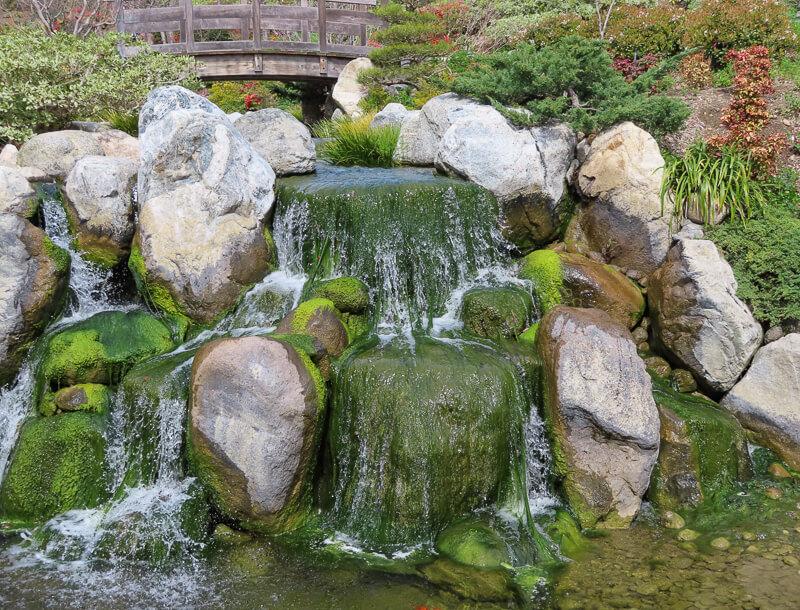 Water Feature Japanese Garden Balboa Park San Diego California USA