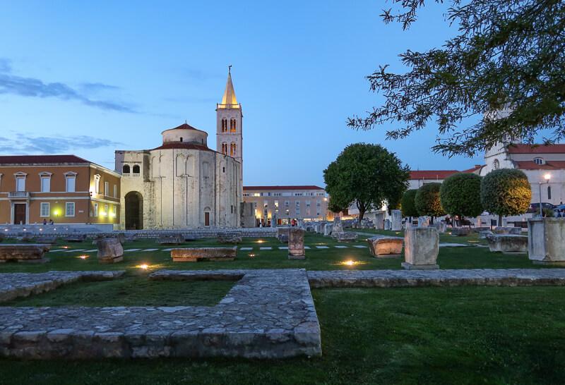 Zadar's Roman Forum at Twilight