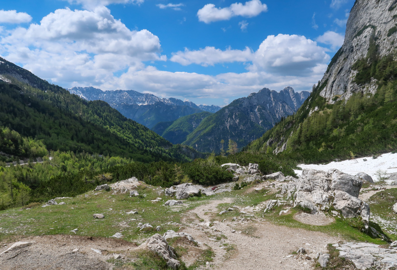 A view from the Vrsic Pass in Slovenia