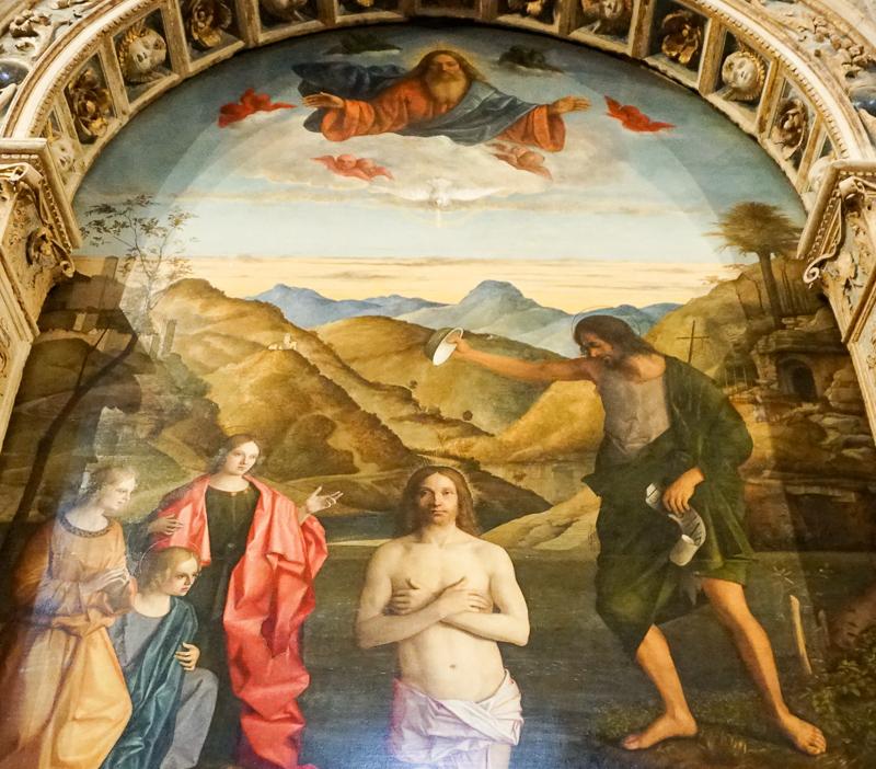 Baptism of Christ Santa Corona Vic enza Italy
