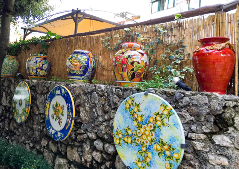 Ceramics in Ravello Italy