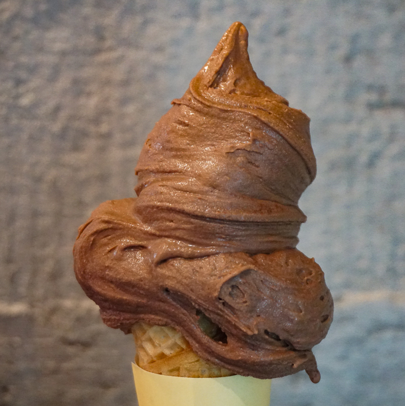 Chocolate gelato from Oggi in Bologna Italy