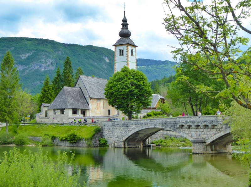 Church of Saint John the Baptist Lake Bohinj Slovenia