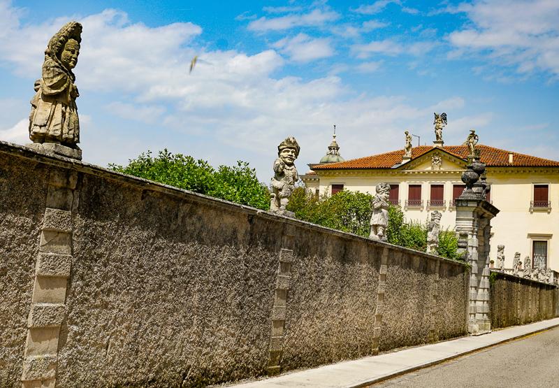 Dwarf Statues Villa Valmarana Vicenza Italy