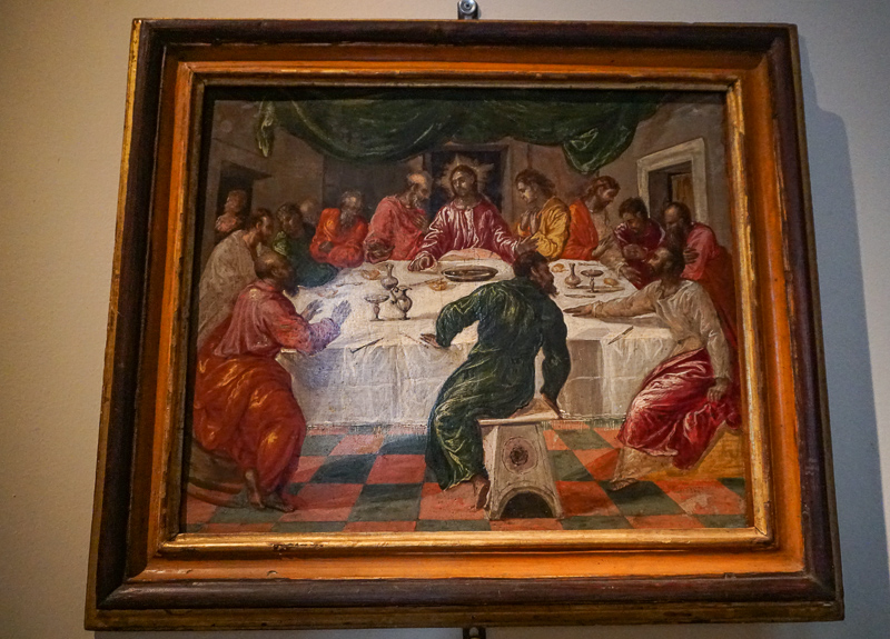 El Greco's The Last Supper in the National Art Gallery in Bologna, Italy