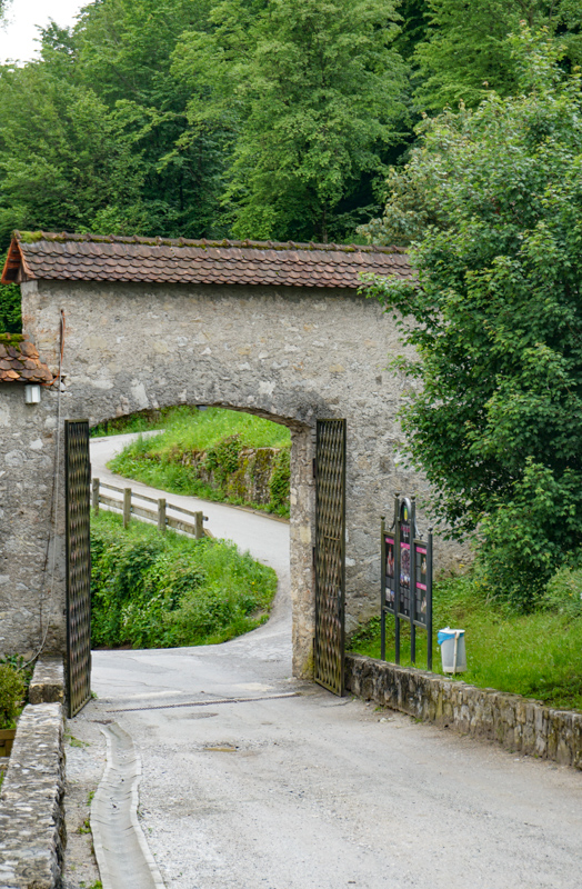 Entrance to Loka Castle Slovenia