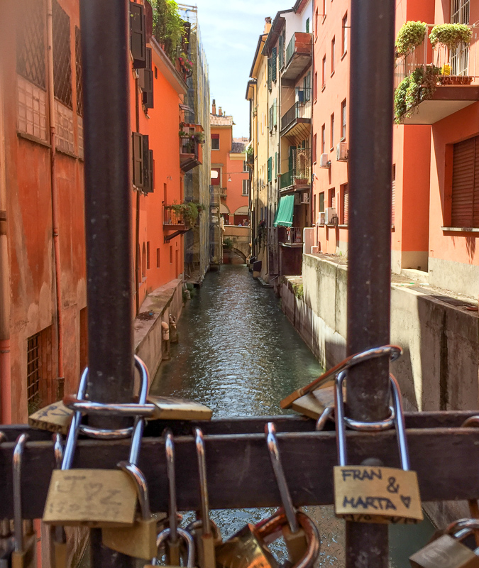 Historic Canal in Bologna Italy