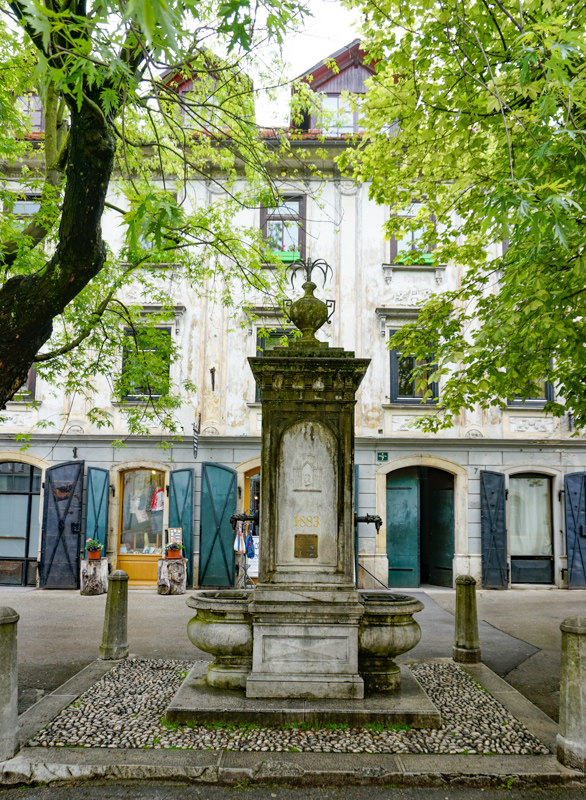 Old Stone Fountain Mestni Trg Skofja Loka