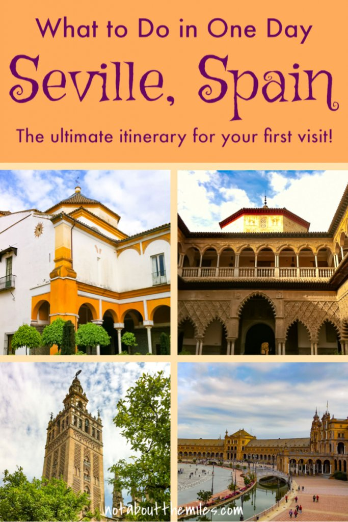 Discover the best things to do in Seville in one day! See the Alcazar, the Seville Cathedral, and the Plaza of Spain!