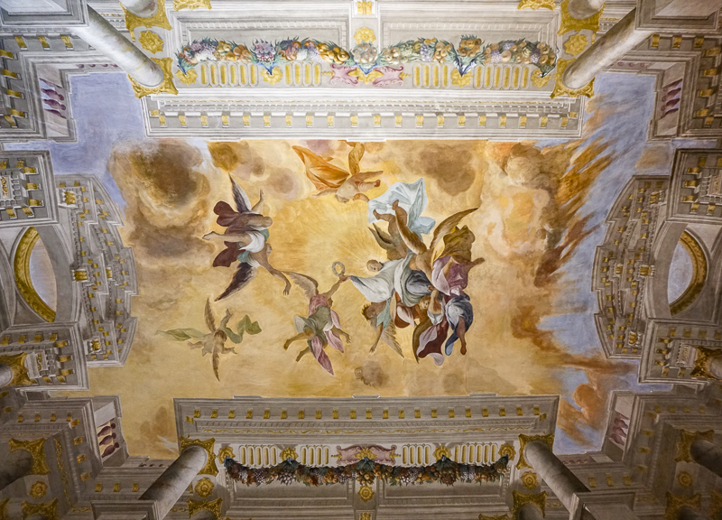 Painted Ceiling National Art Gallery Bologna Italy