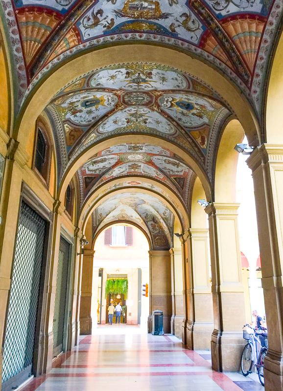 Palazzo Banca d'Italia Portico Bologna Italy