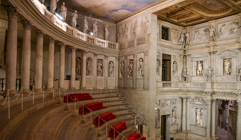 Palladio's Teatro Olimpico Vicenza Italy