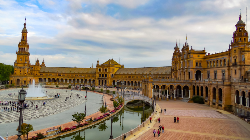 Plaza of Spain Seville Spain