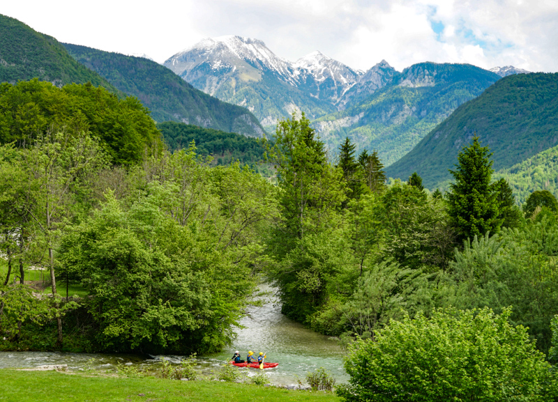 Rafting on Sava River Slovenia