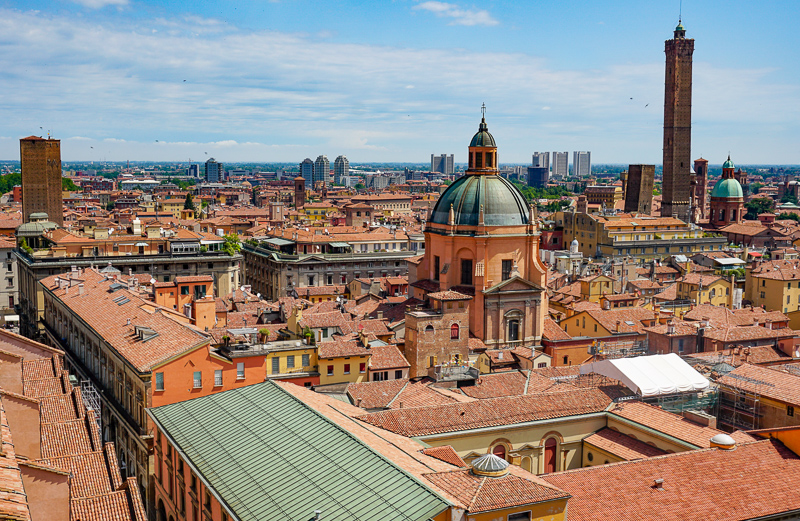 Rooftops of Bologna Italy
