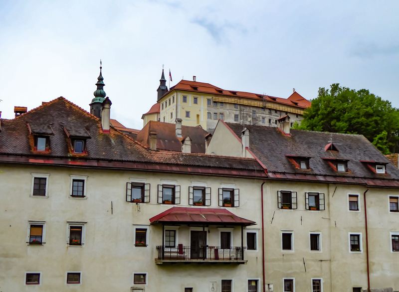 Skofja Loka Castle from Bridge