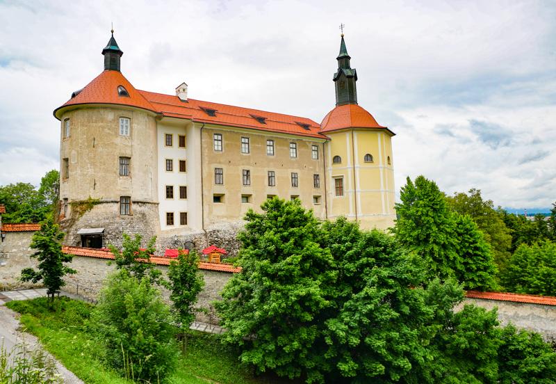 Skofja Loka Castle in Slovenia