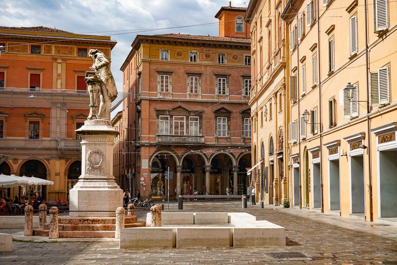 Square in Bologna Italy