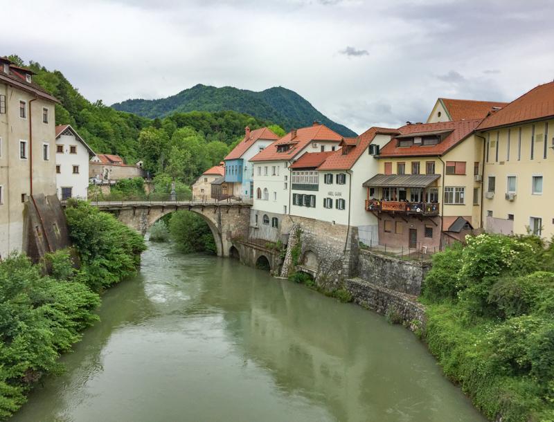 Stone Bridge Skofja Loka Slovenia