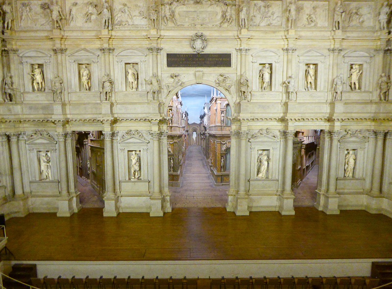 Teatro Olimpico Stage Vicenza Italy