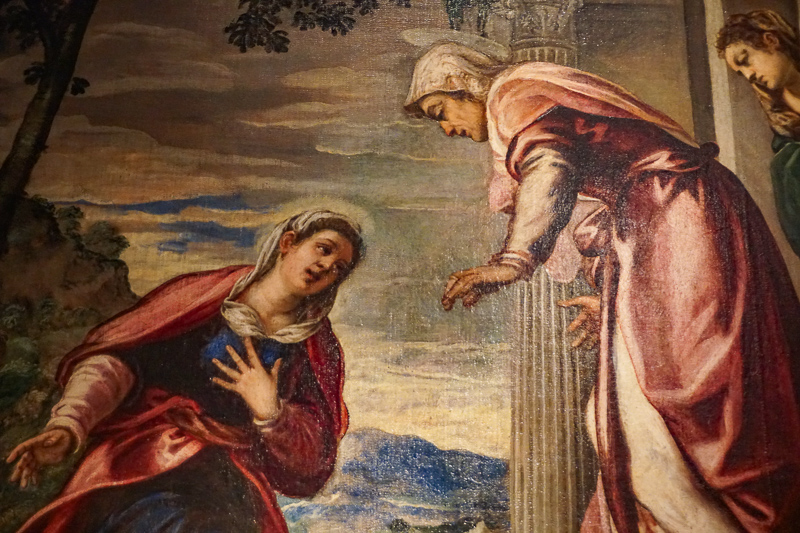The Visitation by Tintoretto at the National Art Gallery in Bologna, Italy