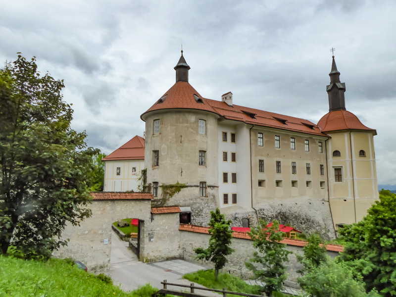 The impressive Loka Castle in Slovenia