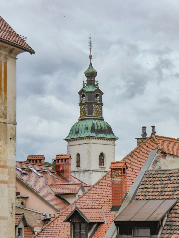The rooftops of Skofja Loka Slovenia