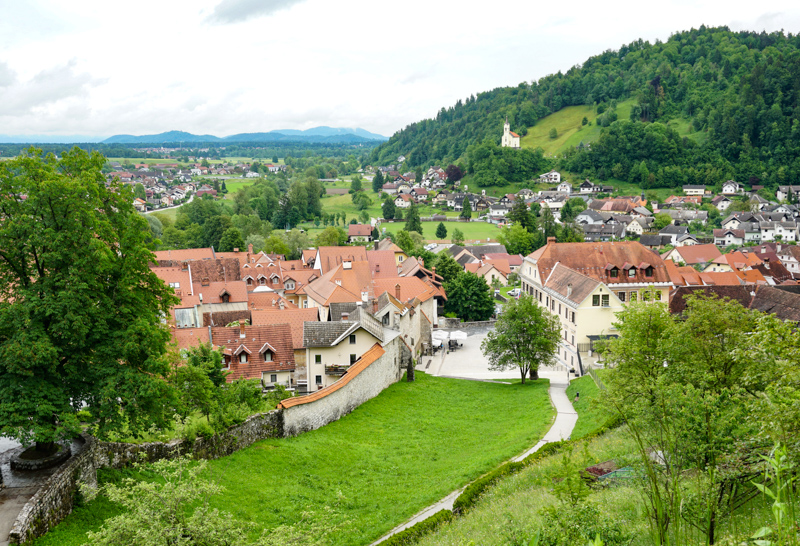 The town of Skofja Loka in Slovenia