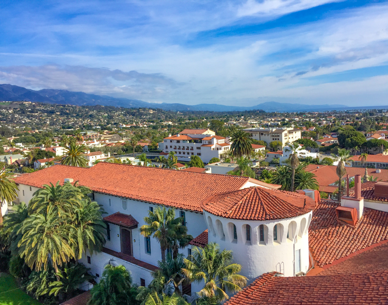 View from Clock Tower Santa Barbara California USA