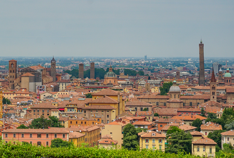View from Complesso di San Michele Bologna Italy