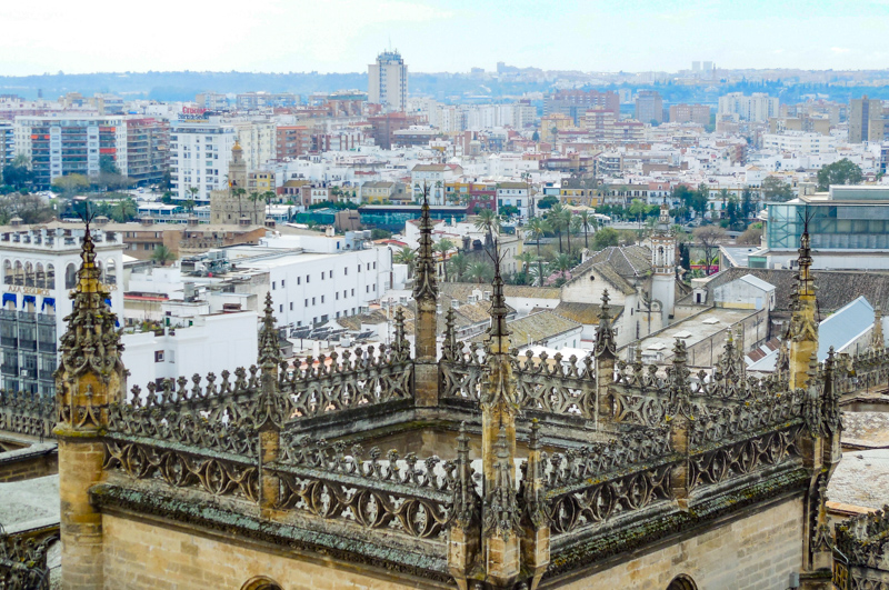 View from La Giralda Seville Spain