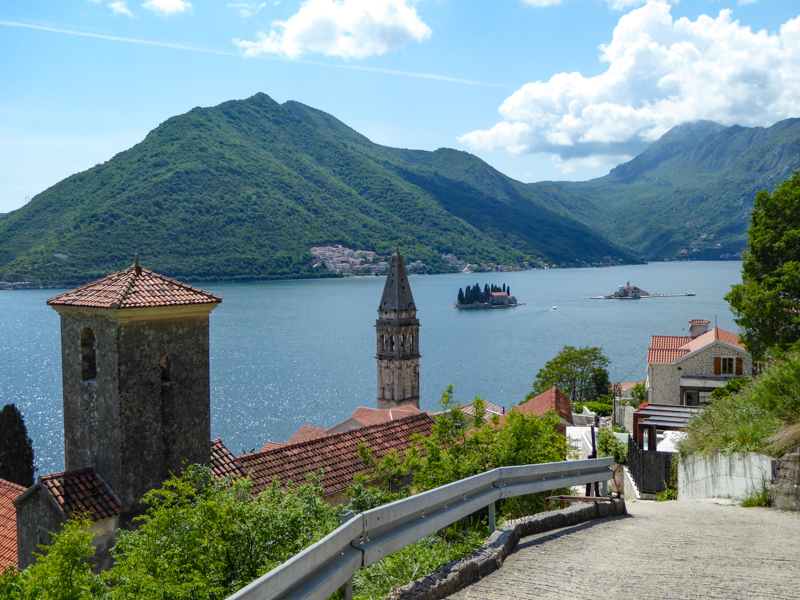 View from Perast in Montenegro