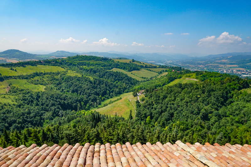 View from Terrace of the San Luca Sanctuary Bologna Italy