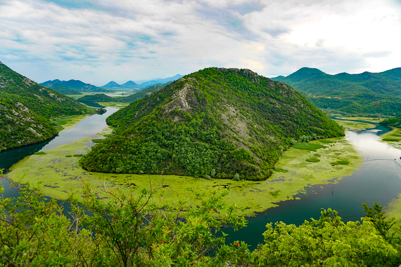 View of Skadar Lake in Montenegro
