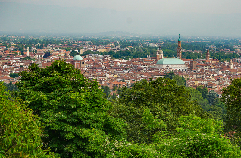 View of Vicenza Italy from Monte Berico