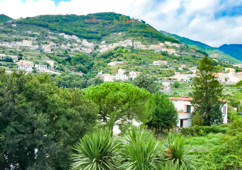 View of hillsides from Ravello Italy