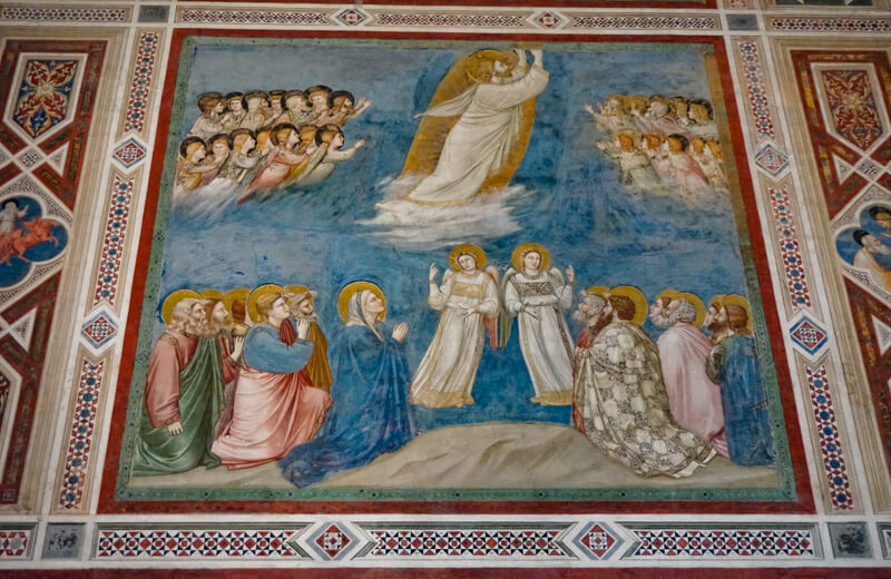 A panel in the Scrovegni Chapel in Padua Italy