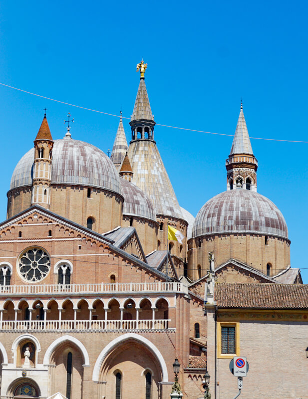 The domes of the Basilica of Saint Anthony in Padua Italy