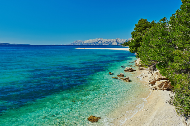 Bay at Makarska in Croatia