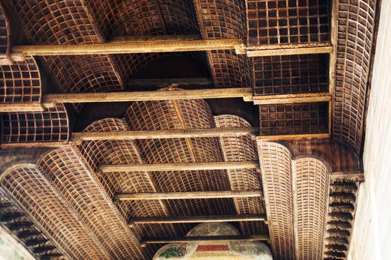 Ceiling in Church of the Eremitani in Padua Italy