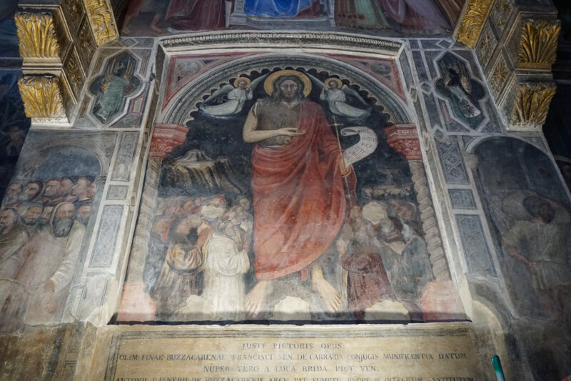 Frescoes in Padua Baptistery Italy
