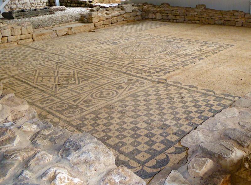 Mosaics in Roman Villa in Risan Montenegro