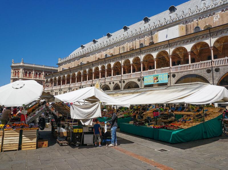 Open Market Piazza delle Erbe Padua Italy