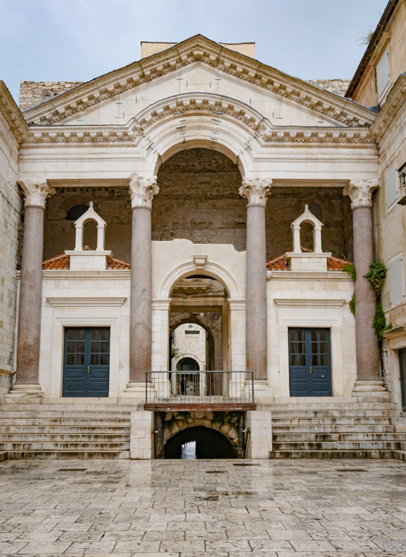 Peristyle Diocletian's Palace Split Croatia
