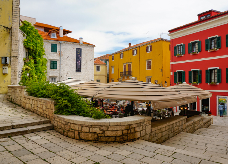 Square in Sibenik Croatia