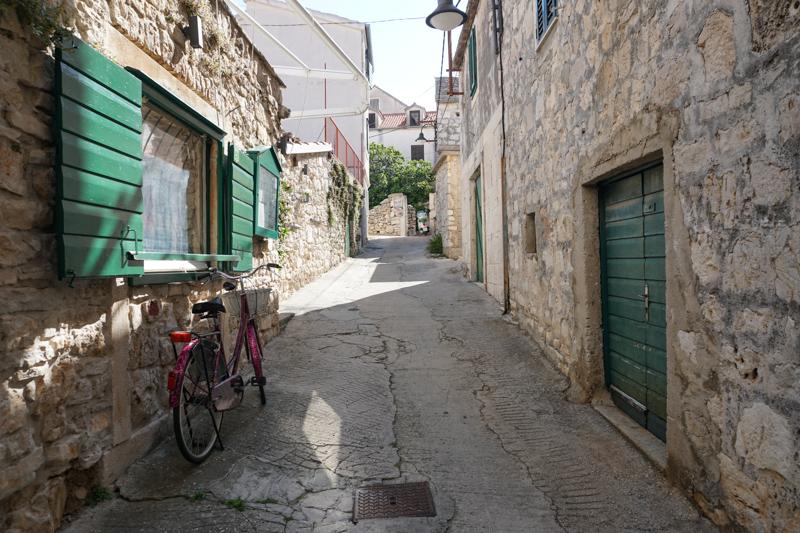 Street in Primosten Croatia