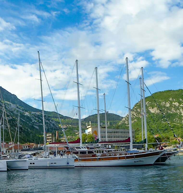 The Bay of Kotor in Montenegro